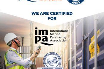 Somos certificados para IMPA e ABFN
