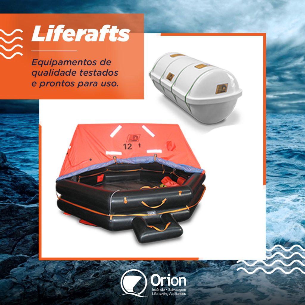 As balsas salva-vidas são adequadas para uso em navios, plataformas, barcos de turismo, serviço e transporte de passageiros